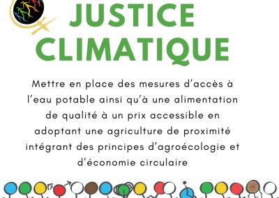 Mettre en place des mesures d'accès à l'eau potable ainsi qu'à une alimentation de qualité à un prix accessible en adoptant une agriculture de proximité intégrant des principes d'agroécologie et d'économie circulaire