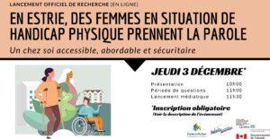 Bandeau lancement de la recherche logement femmes en situation de handicap
